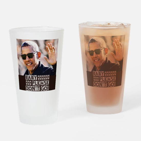 Cute Obama president Drinking Glass