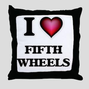 I love Fifth Wheels Throw Pillow