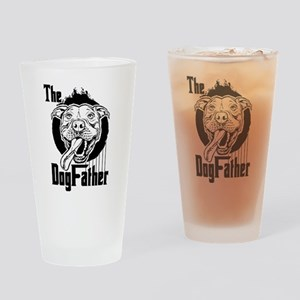 The Pit Bull Dogfather Drinking Glass