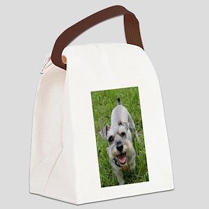 Happy Schnauzer Canvas Lunch Bag