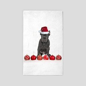 Christmas Cane Corso Puppy Area Rug
