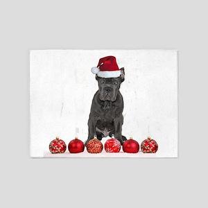 Christmas Cane Corso Puppy 5'x7'Area Rug