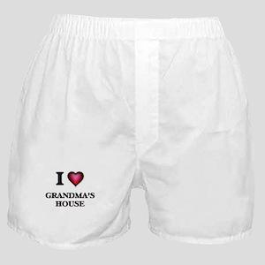 I love Grandma'S House Boxer Shorts