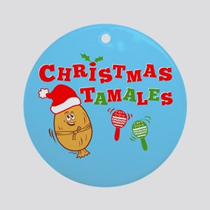 Christmas Tamales Round Ornament