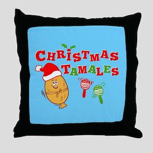 Christmas Tamales Throw Pillow