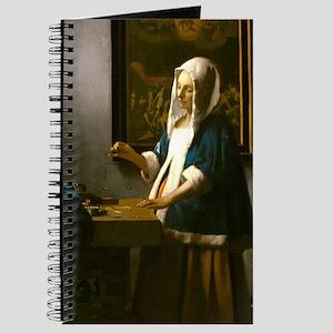 Woman Holding a Balance by Johannes Vermeer Journa