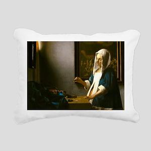 Woman Holding a Balance by Johannes Vermeer Rectan