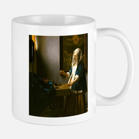 Woman Holding a Balance by Johannes Vermeer Mugs