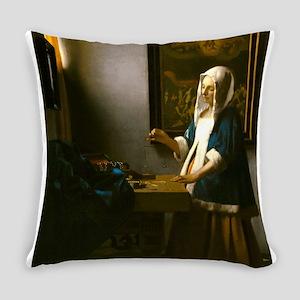 Woman Holding a Balance by Johannes Vermeer Everyd