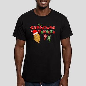 Christmas Tamales Men's Fitted T-Shirt (dark)