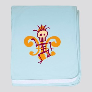 Bone Man Fleur De Lis baby blanket