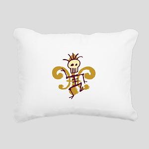 Bone Man Fleur De Lis Rectangular Canvas Pillow