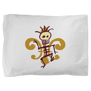Bone Man Fleur De Lis Pillow Sham