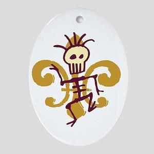 Bone Man Fleur De Lis Oval Ornament