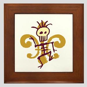 Bone Man Fleur De Lis Framed Tile