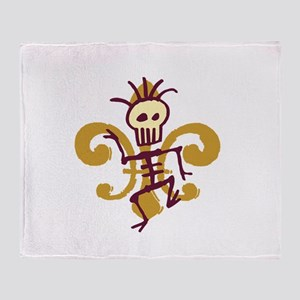 Bone Man Fleur De Lis Throw Blanket