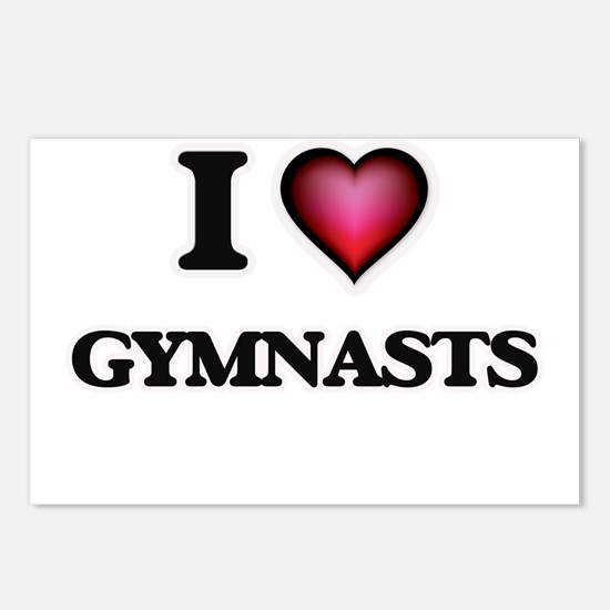 I love Gymnasts Postcards (Package of 8)