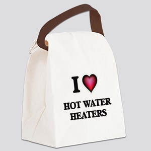 I love Hot Water Heaters Canvas Lunch Bag