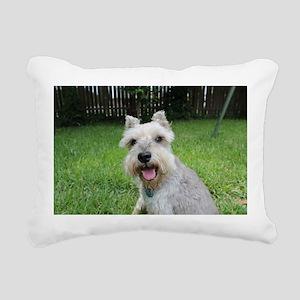 Precious Mini Schnauzer Rectangular Canvas Pillow