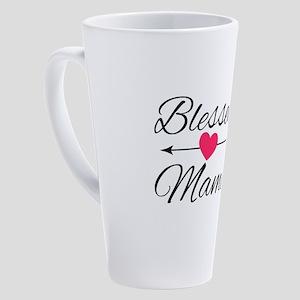 Blessed Mama 17 oz Latte Mug