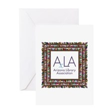 AzLA Bookshelf 1 Greeting Cards
