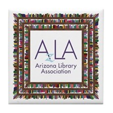 AzLA Bookshelf 1 Tile Coaster