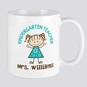 Personalized Kindergarten Teacher Gift Mugs