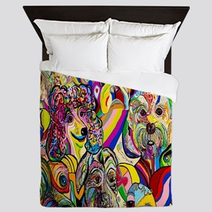Dogs Dogs DOGS! Queen Duvet