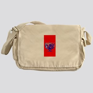 Red Vibrant Menorah Hanukkah 4Jason Messenger Bag
