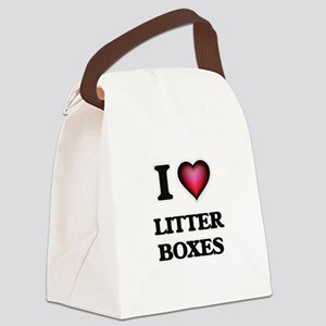 I love Litter Boxes Canvas Lunch Bag