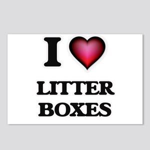 I love Litter Boxes Postcards (Package of 8)