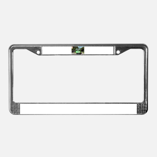 Green Melbourne tram, Australi License Plate Frame