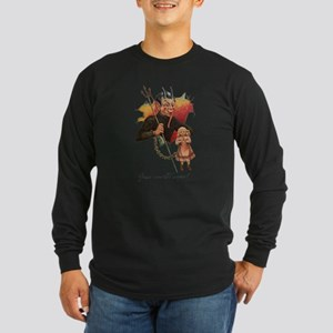 Krampus Breaking Through Long Sleeve T-Shirt