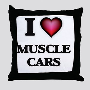 I love Muscle Cars Throw Pillow