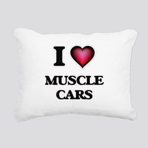 I love Muscle Cars Rectangular Canvas Pillow