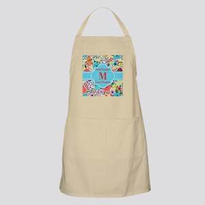 Painted Floral Personalized Monogram Apron