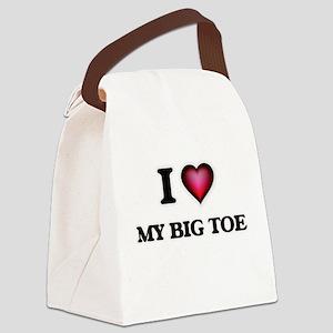 I love My Big Toe Canvas Lunch Bag