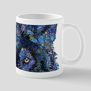 Wild Blue Wolf Mug