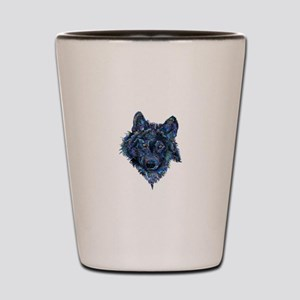 Wild Blue Wolf Shot Glass