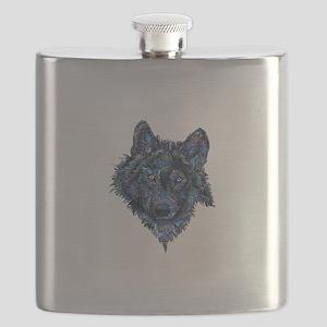 Wild Blue Wolf Flask