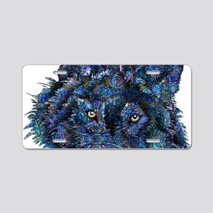 Wild Blue Wolf Aluminum License Plate