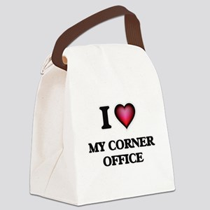 I love My Corner Office Canvas Lunch Bag