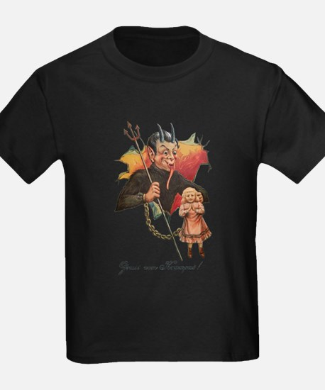 Krampus Breaking Through T-Shirt
