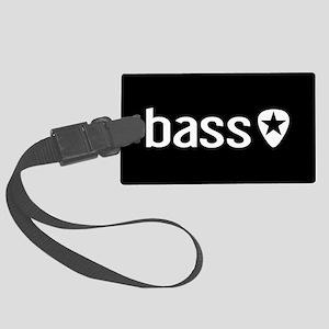 Bass Guitarist: Bass, Pick & Bla Large Luggage Tag