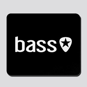 Bass Guitarist: Bass, Pick & Black Star Mousepad