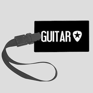 Guitarist: Guitar Pick & Black S Large Luggage Tag