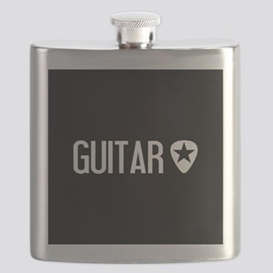 Guitarist: Guitar Pick & Black Star Flask
