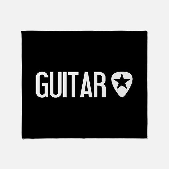 Guitarist: Guitar Pick & Black Star Throw Blanket
