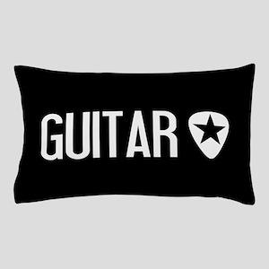 Guitarist: Guitar Pick & Black Star Pillow Case