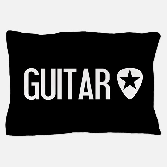 Guitarist: Guitar Pick & Black Star Pillow Case